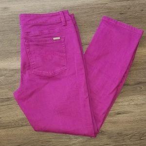Fuchsia / Magenta Ankle Pants